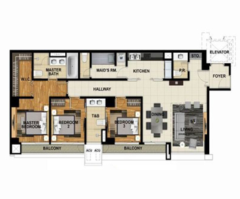 3 Bedroom Unit